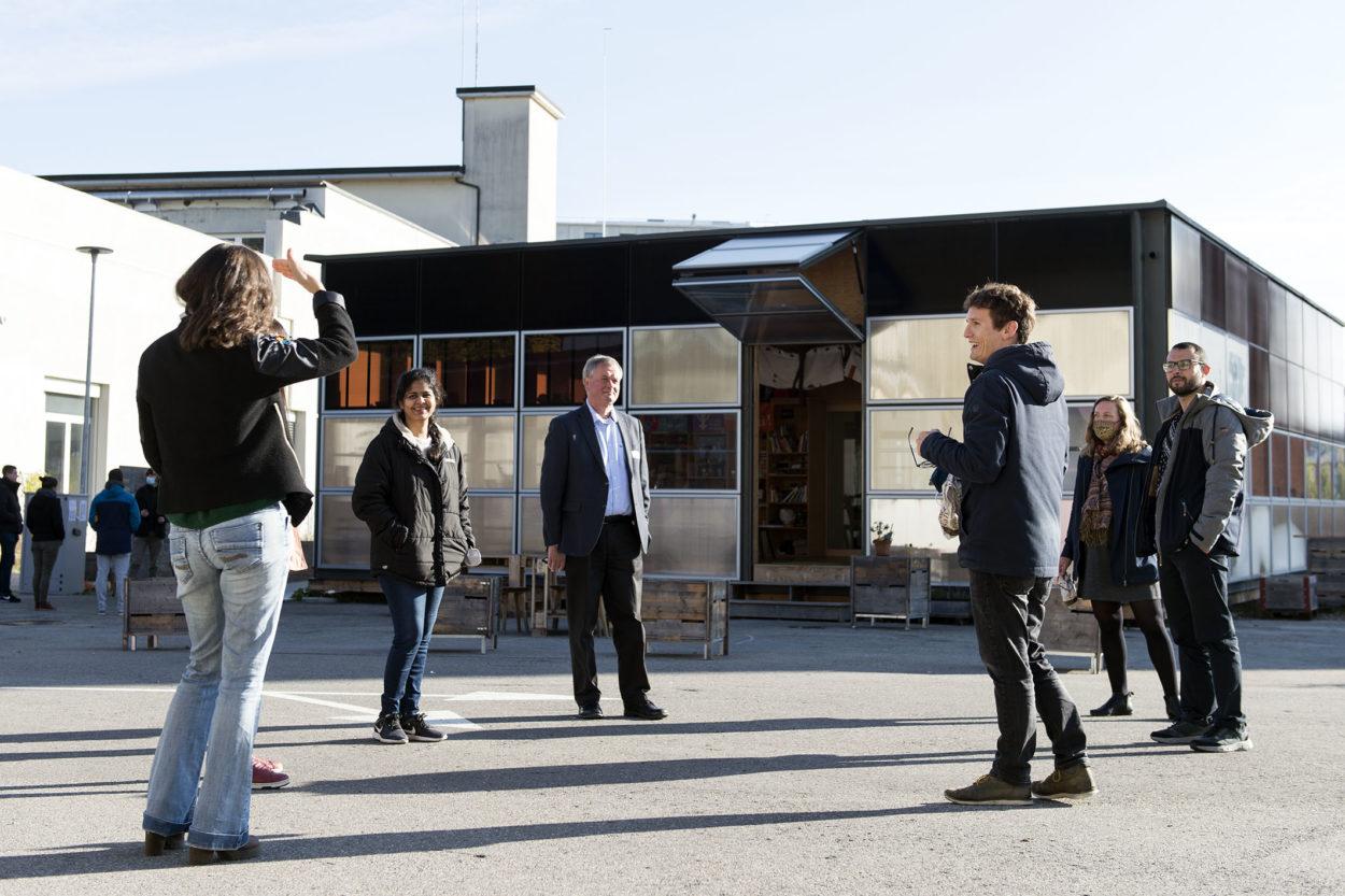 Newcomers Breakfast du Smart Living Lab à la Halle bleue suivi d'une visite du NeighborHub, le mardi 13 octobre 2020 à Fribourg.