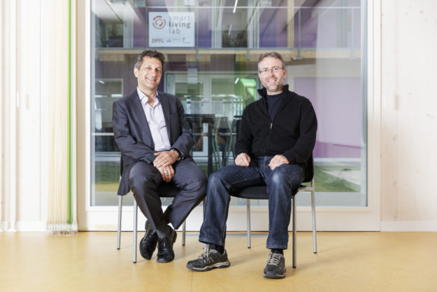 blueEnergy: Luca Rossi (SINEF SA), Michael Pfister (HEIA-FR) © Horsform | Nicolas Brodard
